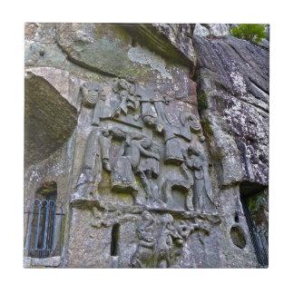 Externsteineの石造りに切り分けること タイル