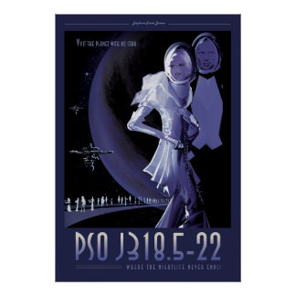 Extrasolar惑星のサイファイ旅行絵 ポスター