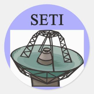 extrterrestrial知性の調査: seti ラウンドシール