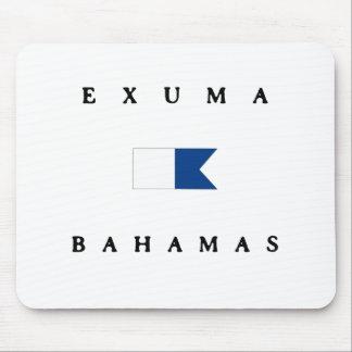 Exumaバハマのアルファ飛び込みの旗 マウスパッド