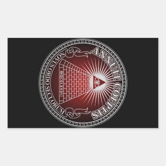 Eye of Providence 4 長方形シール