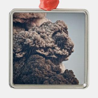 Eyjafjalljokullの火山爆発 メタルオーナメント