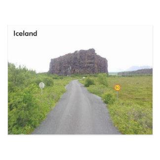 Eyjan、アイスランドの北のÁsbyrgi、 ポストカード