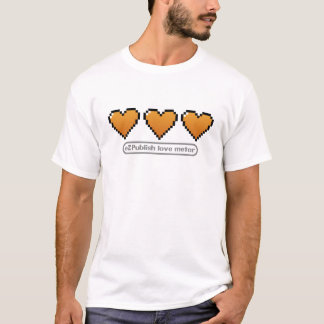 eZは愛メートルのTシャツを出版します(完全な) Tシャツ