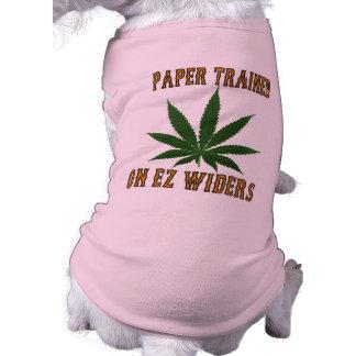 EZ Widers.で訓練される紙 犬用袖なしタンクトップ