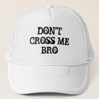 eZaZZleManによって私をBROのカスタマイズ可能な帽子交差させないで下さい キャップ