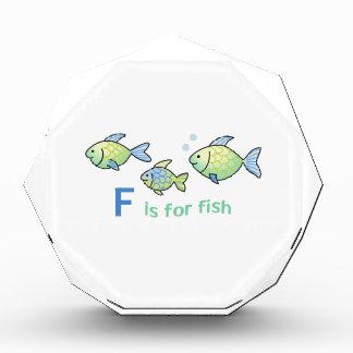 Fは魚のためです 表彰盾