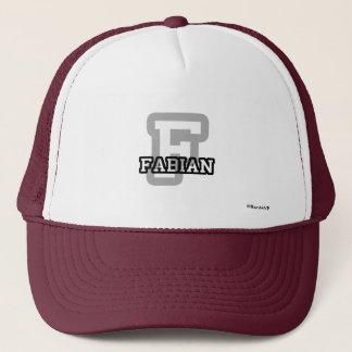 FはFabianのためです キャップ