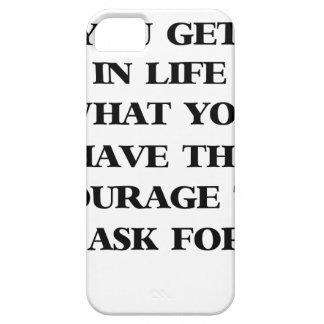 fを頼む勇気を持っているもの生命に得ます iPhone SE/5/5s ケース