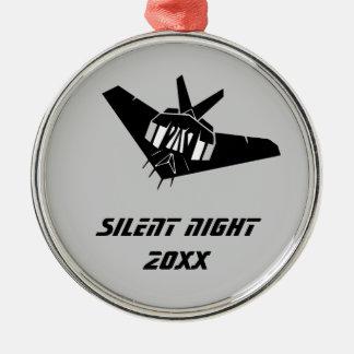 f117隠しだての戦闘爆撃機のジェット機の静かな夜 メタルオーナメント