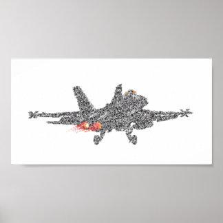 F18スズメバチの戦闘機-空電 ポスター