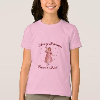 F21桜のフラワー・ガールのワイシャツ Tシャツ