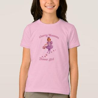F22桜のフラワー・ガールのワイシャツ Tシャツ
