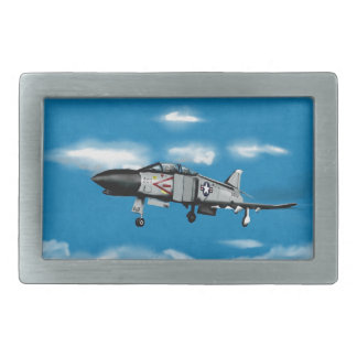 F4幻影海軍ジェット戦闘機 長方形ベルトバックル