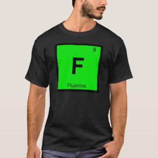 F -フッ素化学周期表の記号 Tシャツ