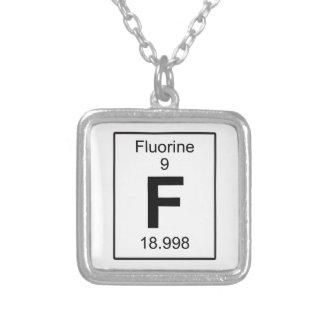 F -フッ素 シルバープレートネックレス