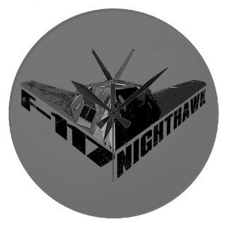 F-117アメリカヨタカ亜科のアクリルの柱時計 ラージ壁時計