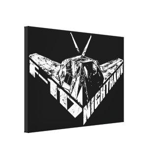 F-117アメリカヨタカ亜科のキャンバスのプリント キャンバスプリント
