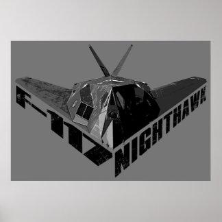 F-117アメリカヨタカ亜科のプリント ポスター