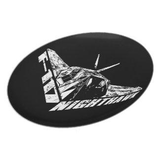F-117アメリカヨタカ亜科のメラミンプレート プレート