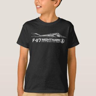 F-117アメリカヨタカ亜科の子供の基本的なHanes Taglessの心地よい Tシャツ