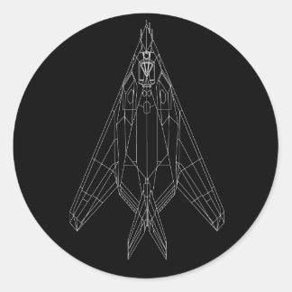 F-117ステッカー ラウンドシール