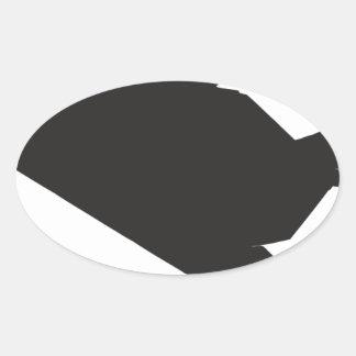 F-117隠しだての戦闘機 楕円形シール