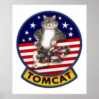 F-14雄猫のマスコット ポスター
