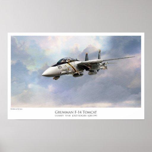 F-14A TOMCAT VF-84 JOLLY ROGERS ポスター