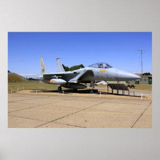 F-15ワシのジェット戦闘機の飛行機ポスタープリント ポスター