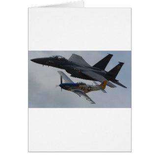 F-15ワシ + P-51ムスタングの形成 カード