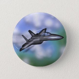 F-15戦闘機 5.7CM 丸型バッジ