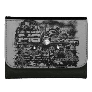 F-16戦いの《鳥》ハヤブサの中型の革財布