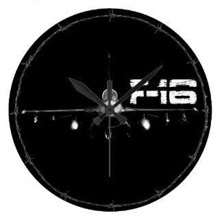 F-16戦いの《鳥》ハヤブサの円形の(大きい)柱時計 ラージ壁時計