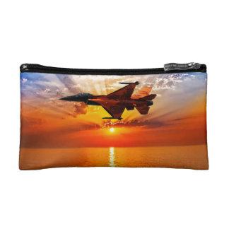 F-16戦いの《鳥》ハヤブサ コスメティックバッグ