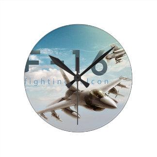 F-16戦いの《鳥》ハヤブサ ラウンド壁時計