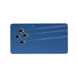 F-16雷鳥の菱形隊形 ラベル