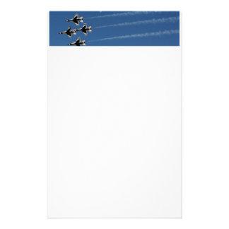 F-16雷鳥の菱形隊形 便箋