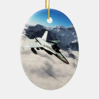 F 18のスズメバチ セラミックオーナメント
