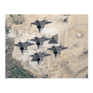 F-22の艦隊 葉書き