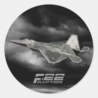 F-22猛禽のクラシックな円形のステッカー ラウンドシール