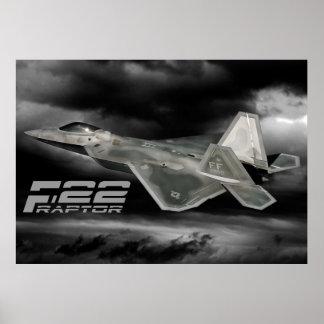 F-22猛禽のプリント ポスター