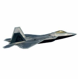 F-22猛禽の切り出し 写真彫刻(台付き)