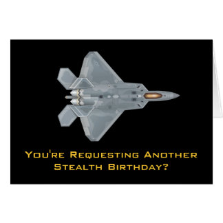 F-22猛禽の誕生日 カード