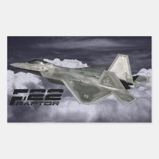 F-22猛禽の長方形のステッカー 長方形シール