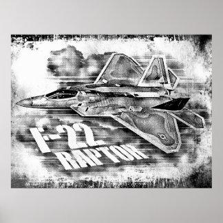 F-22猛禽の0 ポスター