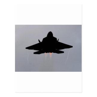 f-22隠しだての戦闘機 ポストカード