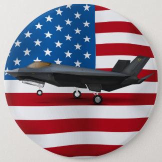 F-22 15.2CM 丸型バッジ