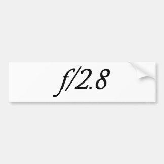 f/2.8 バンパーステッカー