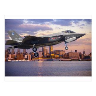 F-35稲妻の戦闘機 葉書き